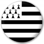 Brittany Province Flag 25mm Flat Back